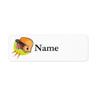 Baseball Helmet Label