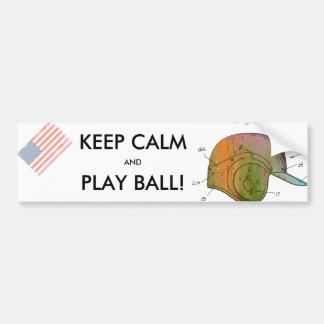 BASEBALL HELMET PATENT - Car Bumper Sticker
