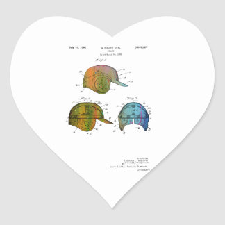 BASEBALL HELMET PATENT - Heart Shaped Stickers