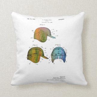 BASEBALL HELMET PATENT - Throw Pillow