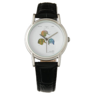 BASEBALL HELMET PATENT - Wristwatch