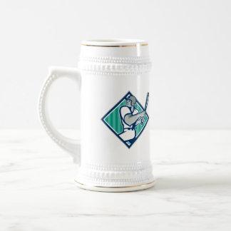 Baseball Hitter Batting Diamond Retro Coffee Mug