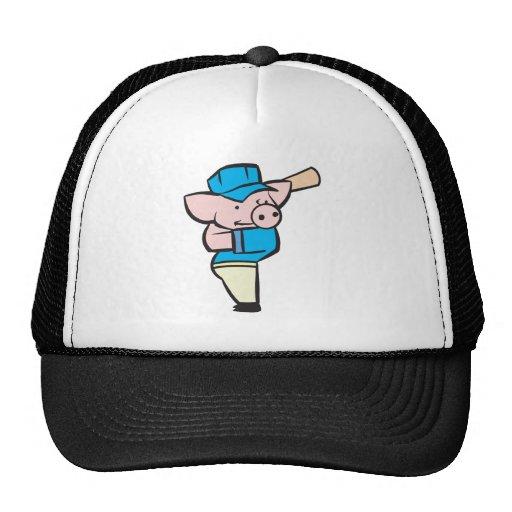 baseball hitter pig hat