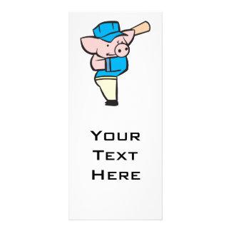 baseball hitter pig personalized rack card