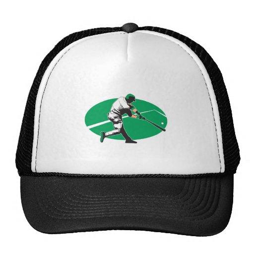 baseball hitter vector illustration mesh hat