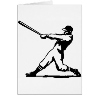 Baseball hitting card