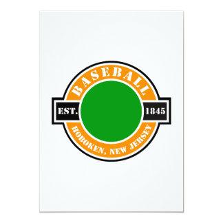 Baseball Hoboken Established Logo 5x7 Paper Invitation Card