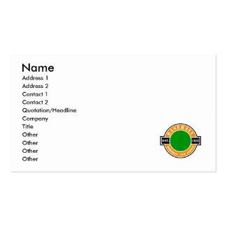 Baseball Hoboken Established Logo Business Card Template