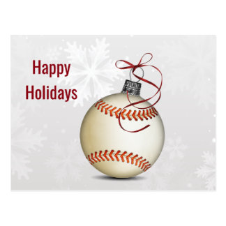 baseball Holiday greeting Postcard