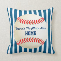Baseball Home Run No Place Like Home Quote Throw Pillow