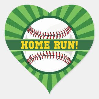 Baseball Home Run Heart Sticker