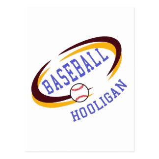 Baseball Hooligan Postcard