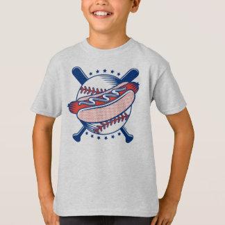 Baseball & Hot Dog Kids' Basic Hanes T-Shirt