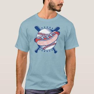 Baseball & Hot Dog Men's Dark T-Shirt
