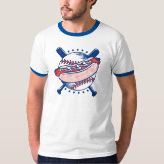 Baseball & Hot Dog Men's Ringer T-Shirt