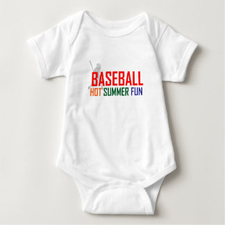 Baseball Hot Summer Fun Baby Bodysuit