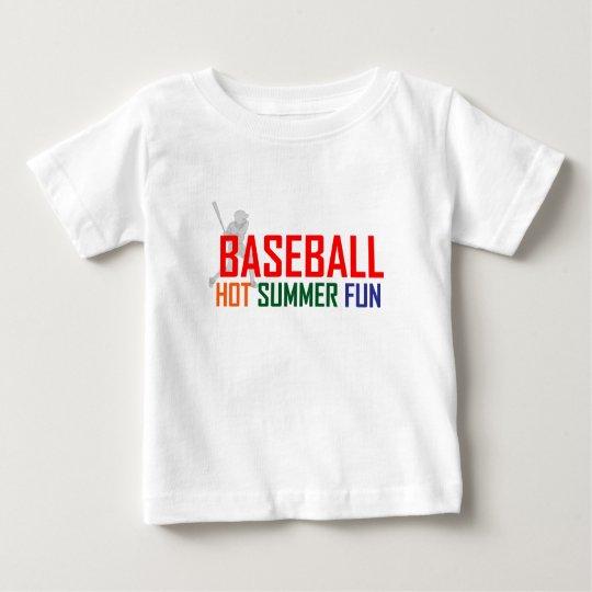 Baseball Hot  Summer Fun Baby T-Shirt