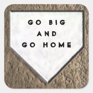 Baseball Humor Square Sticker