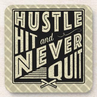 Baseball Hustle Hit Never Quit Coaster Set