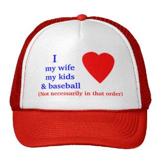Baseball I Heart My Wife Mesh Hats
