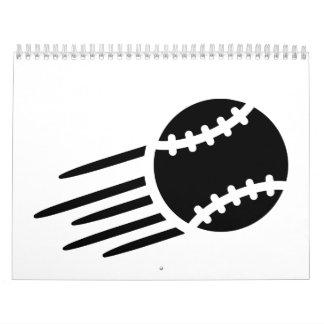 Baseball icon wall calendar