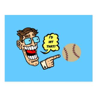 Baseball I'd hit that Postcard