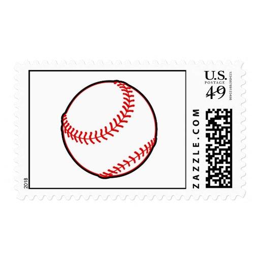 Baseball Image Stamp