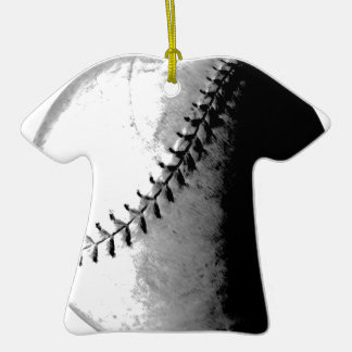BASEBALL IMPRESSION Double-Sided T-Shirt CERAMIC CHRISTMAS ORNAMENT