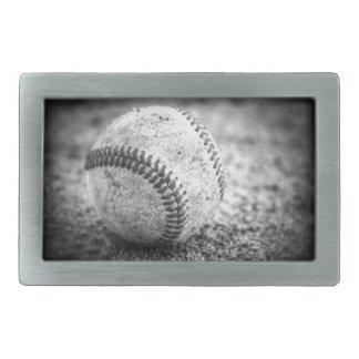 Baseball in Black and White Belt Buckle