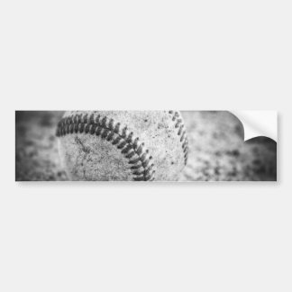 Baseball in Black and White Car Bumper Sticker