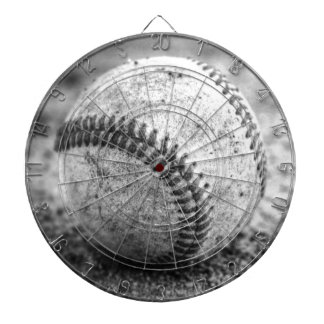 Baseball in Black and White Dartboards