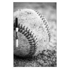 Baseball In Black And White Dry-erase Board at Zazzle