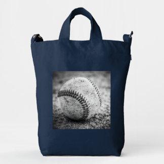 Baseball in Black and White Duck Bag