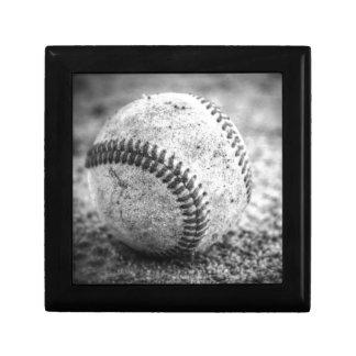 Baseball in Black and White Gift Box