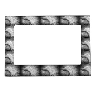 Baseball in Black and White (HORIZONTAL) Magnetic Photo Frame