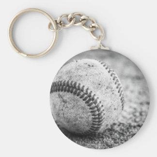 Baseball in Black and White Keychain