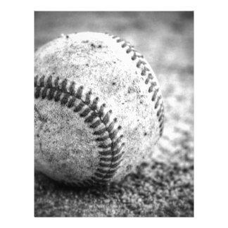 Baseball in Black and White Letterhead