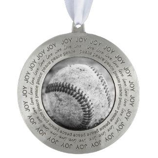 Baseball In Black And White Ornament