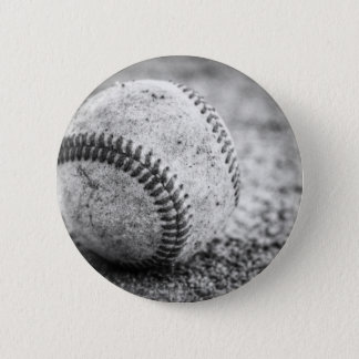 Baseball in Black and White Pinback Button