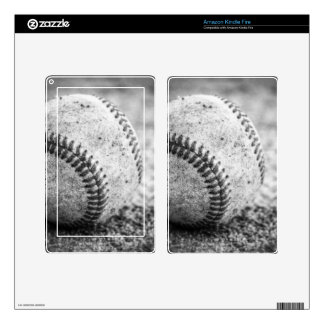 Baseball in Black and White Skin For Kindle Fire