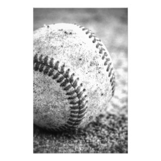 Baseball in Black and White Stationery