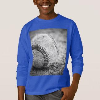 Baseball in Black and White T-Shirt