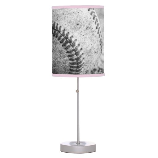 baseball in black and white table lamps zazzle. Black Bedroom Furniture Sets. Home Design Ideas