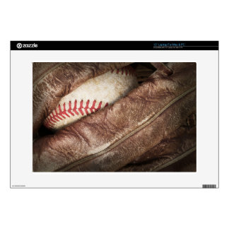 "Baseball in Glove Decal For 15"" Laptop"