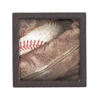 Baseball in Glove Gift Box