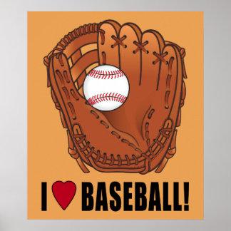 Baseball in Glove: I Love Baseball! Poster