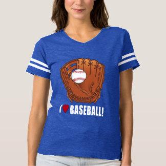 Baseball in Glove: I Love Baseball! T Shirt