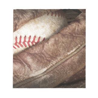 Baseball in Glove Notepad