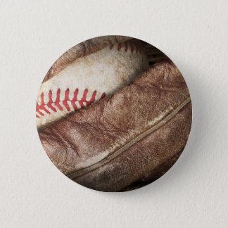 Baseball in Glove Pinback Button