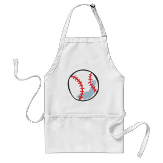 Baseball in Hand-drawn style Adult Apron